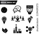 social media set  icon set | Shutterstock .eps vector #119439373