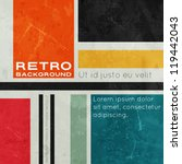 retro background with colored... | Shutterstock .eps vector #119442043