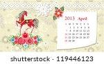 calendar for 2013  april | Shutterstock .eps vector #119446123