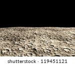 surface of the moon - stock photo