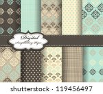set of vector pattern paper for ... | Shutterstock .eps vector #119456497