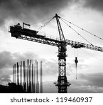 Crane silhouette - stock photo