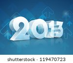 happy new year 2013. eps 10. | Shutterstock .eps vector #119470723