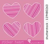 set of stickers in the form of... | Shutterstock .eps vector #119480263