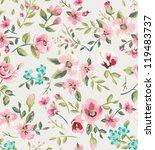 seamless vintage flower garden... | Shutterstock .eps vector #119483737