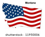 map of the state montana  ... | Shutterstock . vector #11950006