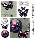 bold butterfly seamless vector... | Shutterstock .eps vector #119502037