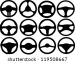 car steering wheels | Shutterstock .eps vector #119508667