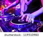 dj mixes the track in the... | Shutterstock . vector #119510983