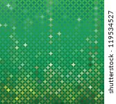 abstract green vector detailed background with colorful elements, that look like stars or emeralds
