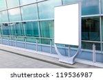 blank billboard in front of...   Shutterstock . vector #119536987