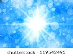 Abstract star light on blue background. - stock photo