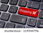 shopping cart for online shopping concepts. - stock photo