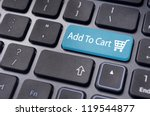 add to cart button  for e... | Shutterstock . vector #119544877