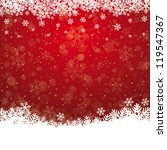fall snowflake snow stars red... | Shutterstock .eps vector #119547367