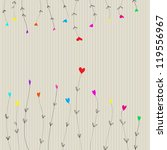 vector colorful heart flowers... | Shutterstock .eps vector #119556967