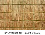 border or frame on a bamboo | Shutterstock . vector #119564137