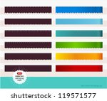 set of colorful ribbons with... | Shutterstock .eps vector #119571577