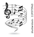 background with music note. | Shutterstock .eps vector #119575963