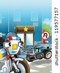 the police car officers  ... | Shutterstock . vector #119577157