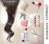 hair care icons set | Shutterstock .eps vector #119580427