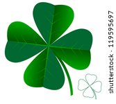 abstract clover leaf isolated... | Shutterstock .eps vector #119595697