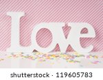 pink love valentine card design ... | Shutterstock . vector #119605783