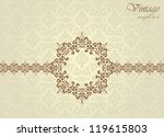 seamless background with floral ... | Shutterstock .eps vector #119615803