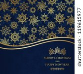 christmas seamless wallpaper.... | Shutterstock .eps vector #119615977