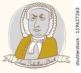 Portrait Of Johann Sebastian Bach.