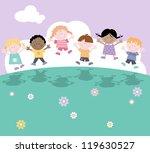 Happy Fun Characters  Children...