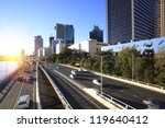 Brisbane city street - stock photo
