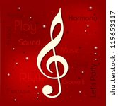 musical notes. can be use as... | Shutterstock .eps vector #119653117