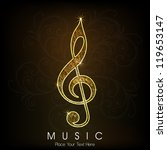 musical notes. can be use as...   Shutterstock .eps vector #119653147