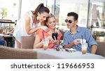 young people at a cafe | Shutterstock . vector #119666953