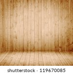 Wooden interior room - stock photo