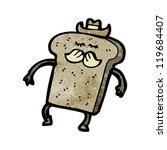 wholemeal bread cartoon... | Shutterstock .eps vector #119684407