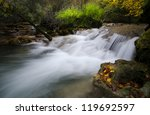 Autmun  river - stock photo