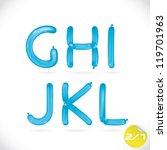 unique glossy balloon alphabet  ...   Shutterstock .eps vector #119701963