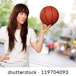 portrait of a young female with ... | Shutterstock . vector #119704093