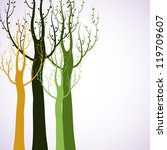 decorative trees background | Shutterstock .eps vector #119709607
