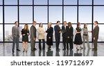 eleven business professionals... | Shutterstock . vector #119712697