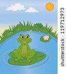 frog in swamp   Shutterstock .eps vector #119712973