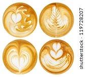 Latte Art  Coffee In White...