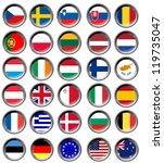 all eu flags in buttons | Shutterstock . vector #119735047