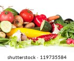 Lot of different vegetables - stock photo