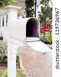 white mail box at house | Shutterstock . vector #119736967