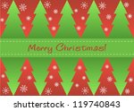 greeting card with christmas... | Shutterstock . vector #119740843