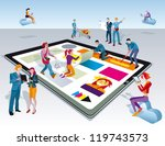a team of people work... | Shutterstock .eps vector #119743573