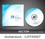 stylized cd cover design... | Shutterstock .eps vector #119745007